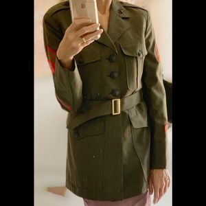 Vintage Original US Army Marine Dress Jacket S